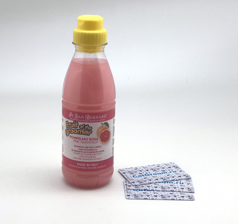 ISB Fruit of the Grommer Pink Grapefruit Шампунь для шерсти средней длины с витаминами 500 мл