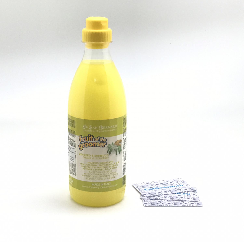 ISB Fruit of the Grommer Ginger&Elderbery Шампунь для любого типа шерсти против раздражений и перхоти 1 л