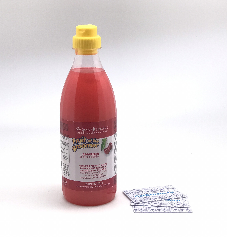 ISB Fruit of the Grommer Black Cherry Шампунь для короткой шерсти с протеинами шелка 1 л