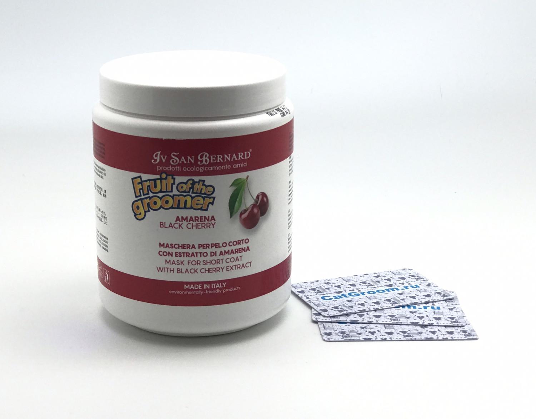 ISB Fruit of the Grommer Black Cherry Восстанавливающая маска для короткой шерсти с протеинами шелка 1 л