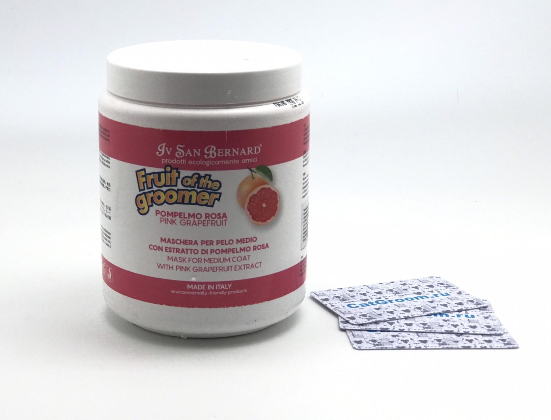 ISB Fruit of the Groomer Pink Grapefruit Восстанавливающая маска для шерсти средней длины с витаминами 1 л
