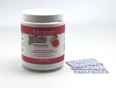 ISB Fruit of the Grommer Pink Grapefruit Восстанавливающая маска для шерсти средней длины с витаминами 1 л