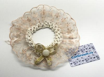 Декоративный воротничок (золотой)