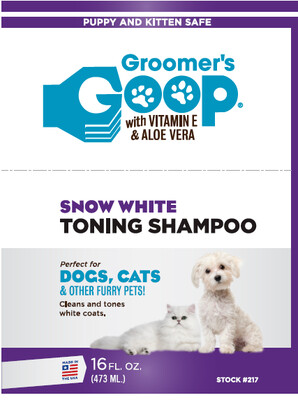 Шампунь Groomer's Goop Show White Toning Shampoo