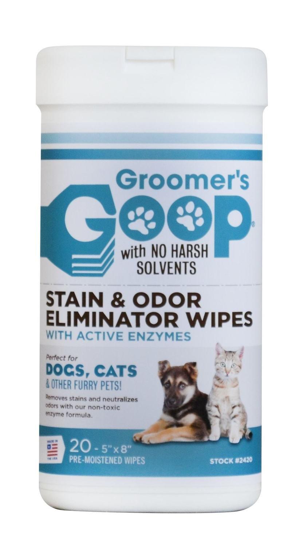 Салфетки для удаления пятен и запаха Groomer's Goop 20 штук/уп