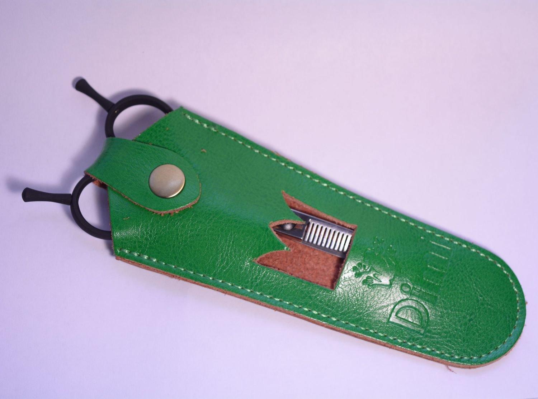 Чехол для ножниц из натуральной кожи
