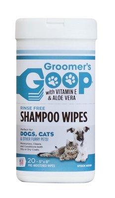 Моющие салфетки Groomer's Goop Wipes 20 штук/уп