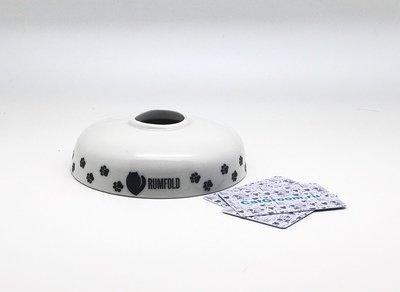 Миска для кошек из фарфора с узким горлом 400 мл принт