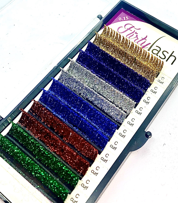 Glitter Lashes C curl .15 13mm