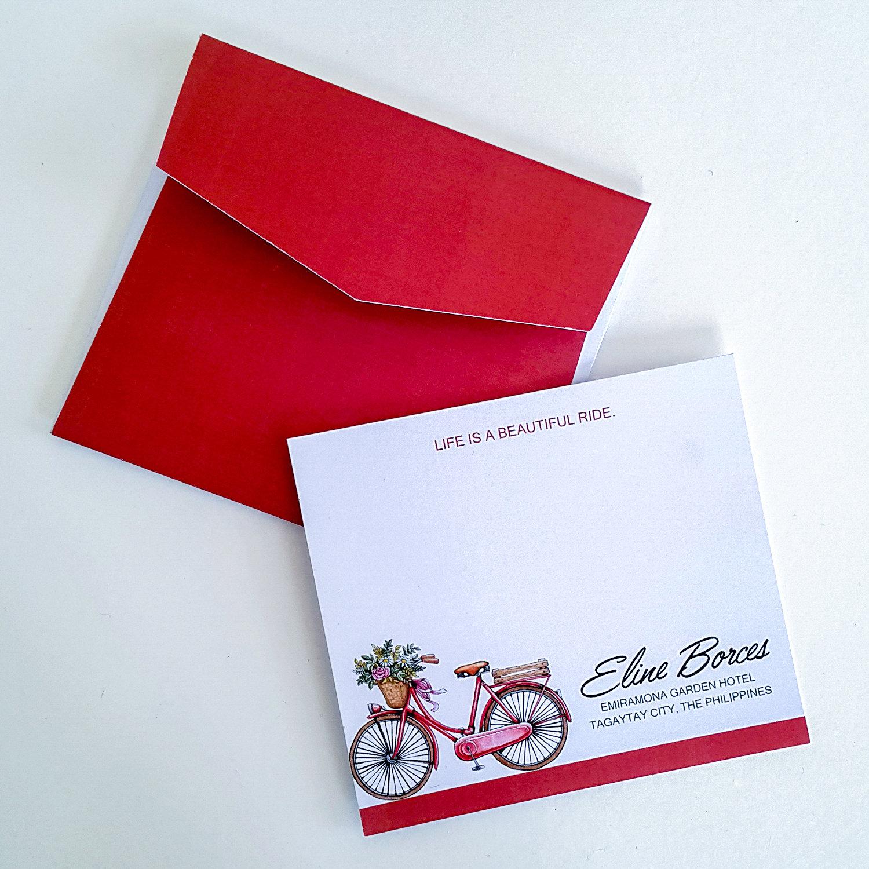 PERSONALISED NOTECARDS w/ Plain Envelopes