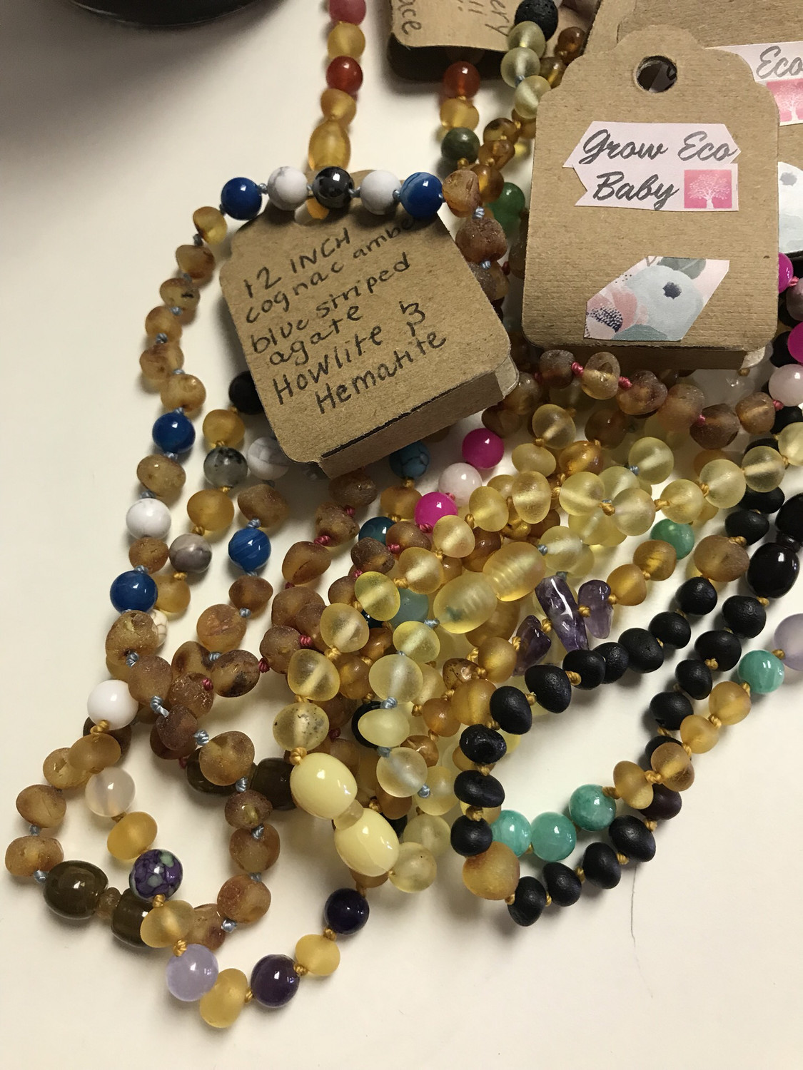 Grow Eco Baby Baltic Amber Necklace
