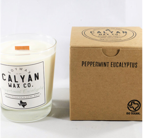 Calyan Wax Co. Peppermint Eucalyptus Soy Candle