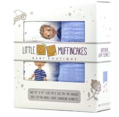 Little Muffincakes Swaddle Blankets (2)