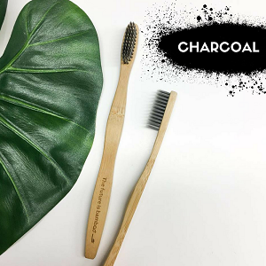 The Future is Bamboo--Adult Soft Bamboo & Charcoal Toothbrush