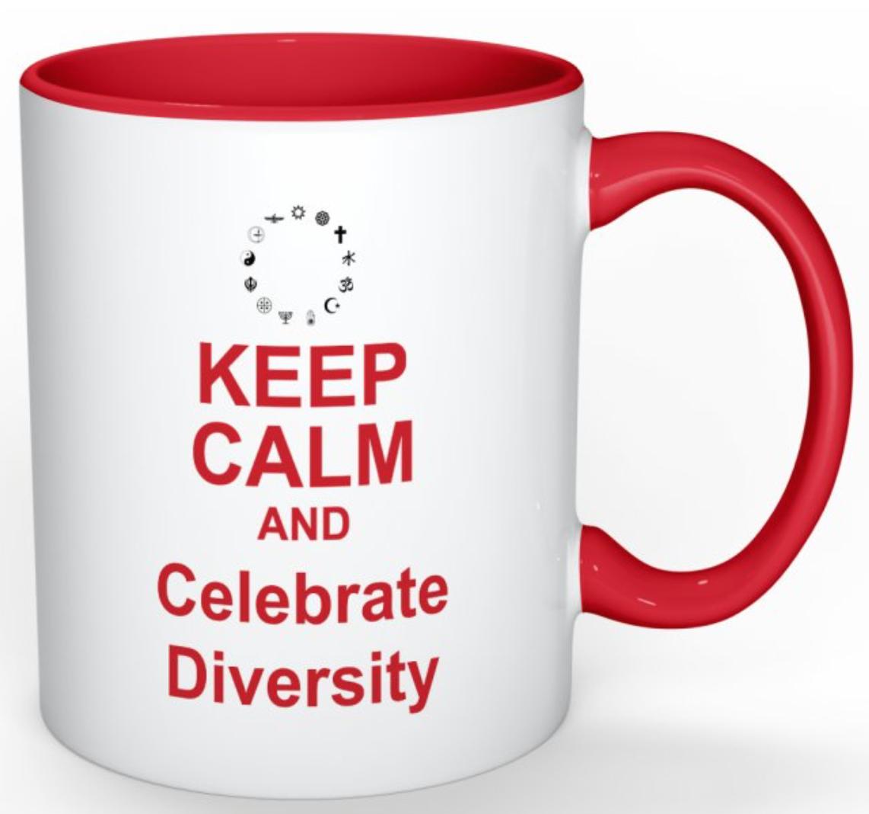 Keep Calm Diversity Read Books Mug Red 00001