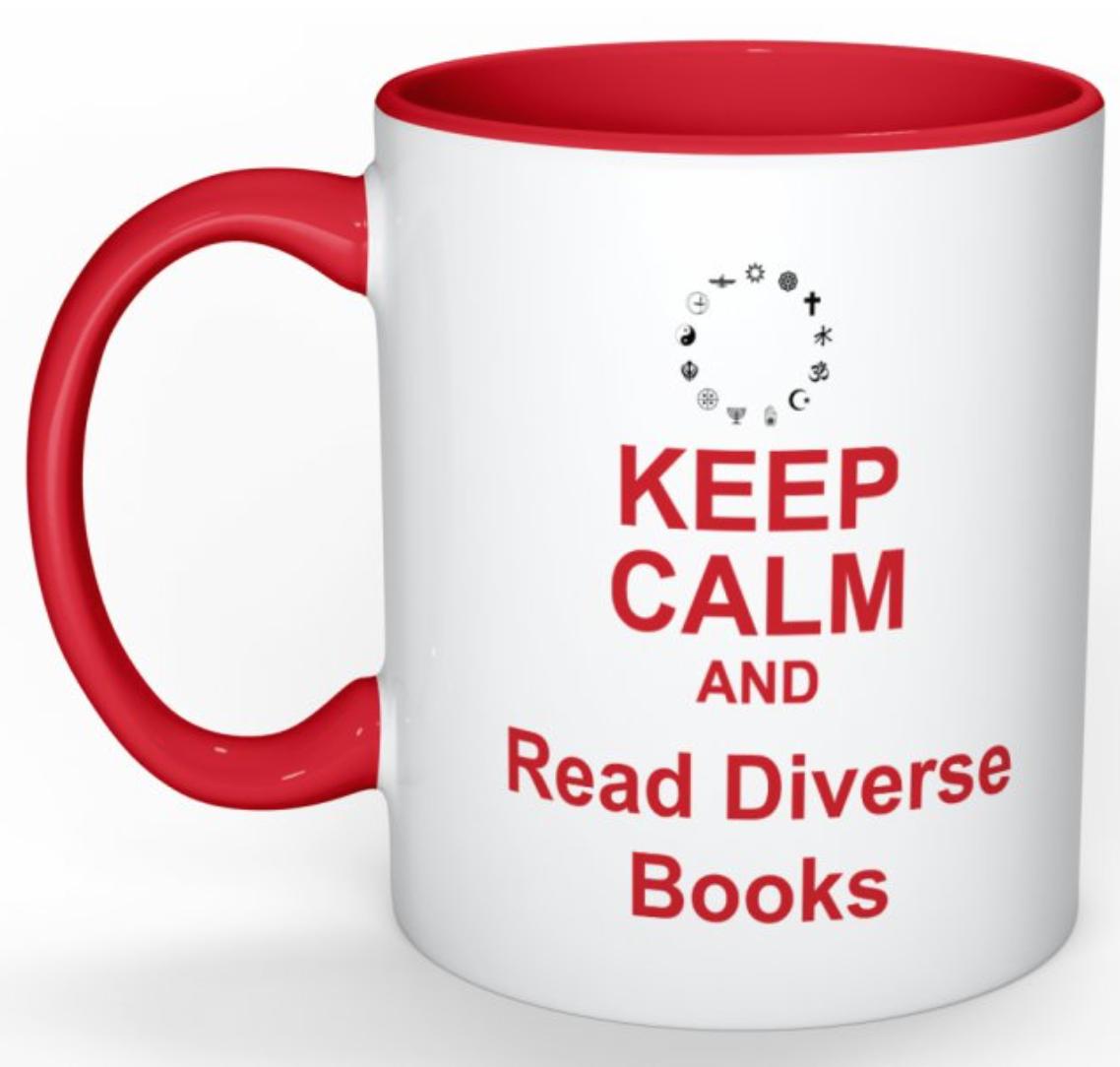 Keep Calm Diversity Read Books Mug Red