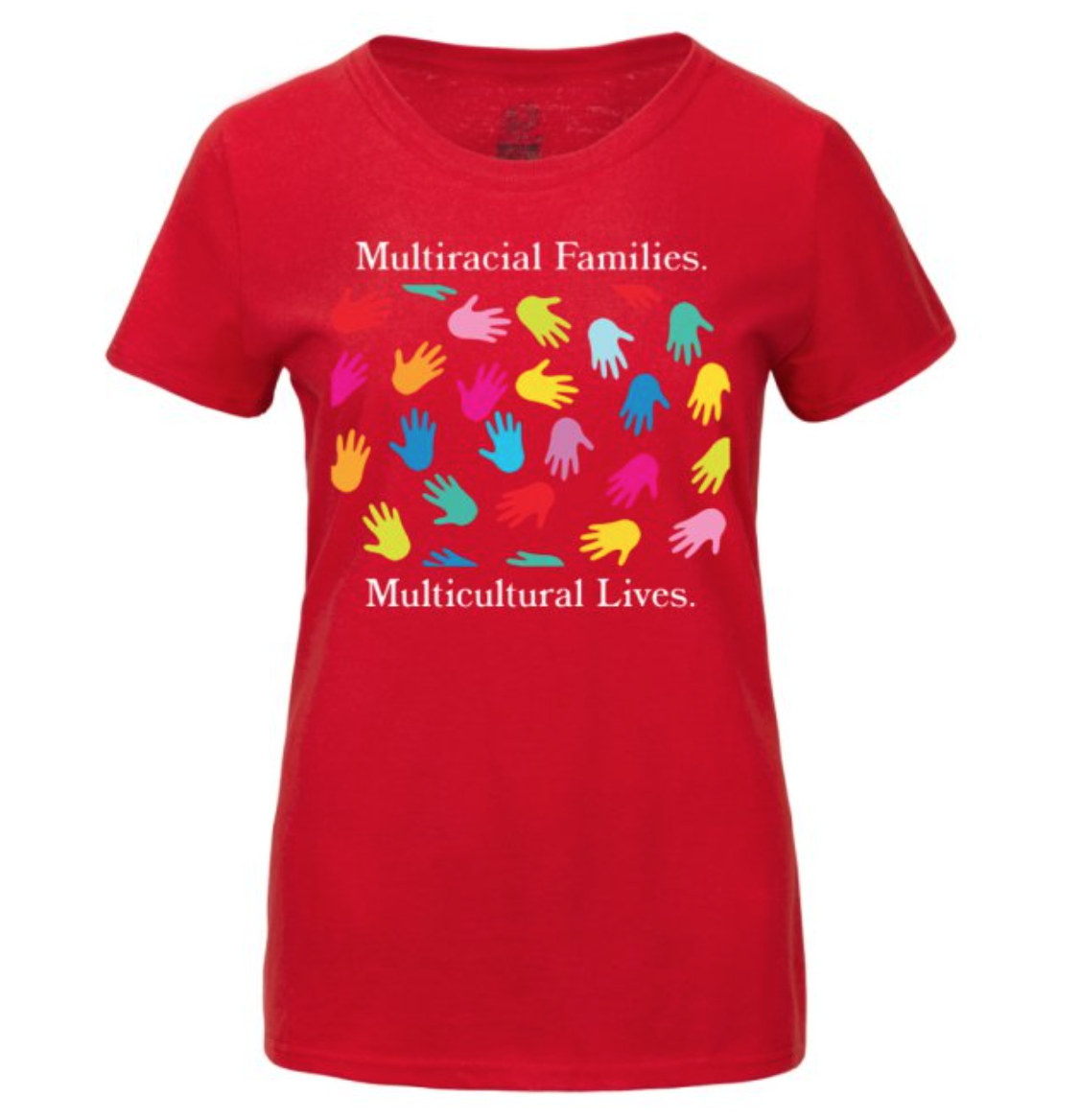 Multicultural Hands Women's Basic T-Shirt Large 00006