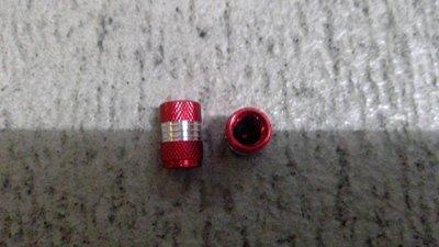 Ventilkappen Schrader Alu eloxiert gerade Rot 1Paar