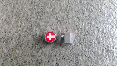 Ventilkappen Schrader Schweizerkreuz verchromt 1Paar
