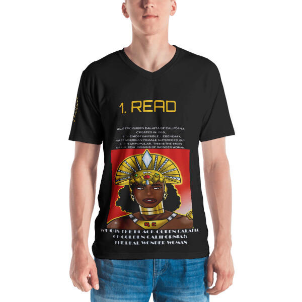 Simon-No, Queen Calafia Says 1. 2. All-Over T-shirt CALIFORNIA IS ME EST. 1510