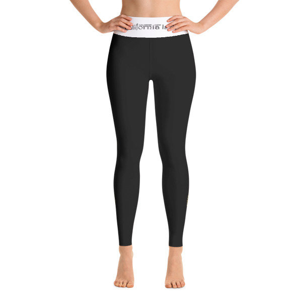 I AM QUEEN CALAFIA Power Black CALIFORNIA IS ME EST. 1510 Yoga Leggings