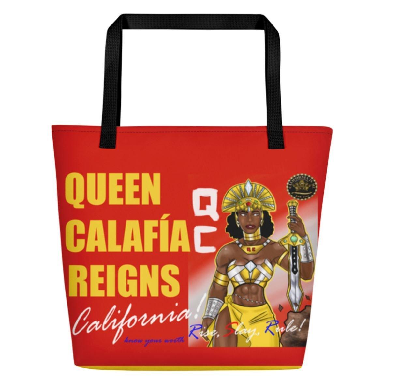 I AM Queen Calafia Beach Bag