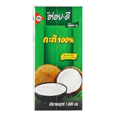 Кокосовое молоко, жирность 18,5%, АРОЙ Д, т/п 1л