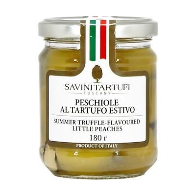 Персики с черным летним трюфелем в масле, САВИНИ ТАРТУФИ, стекло 180г