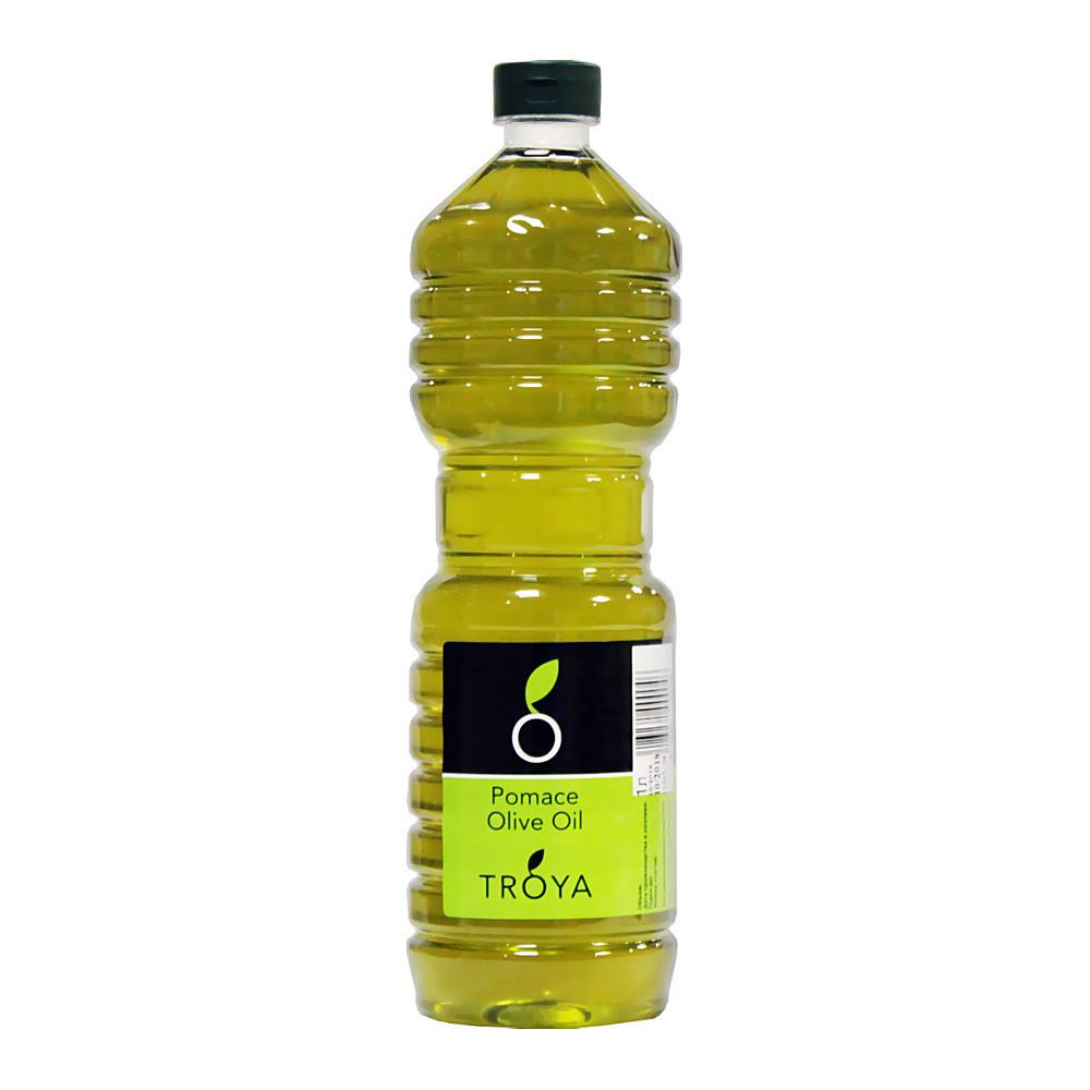 Масло оливковое помас (второй отжим), ТРОЯ, пластик 1л