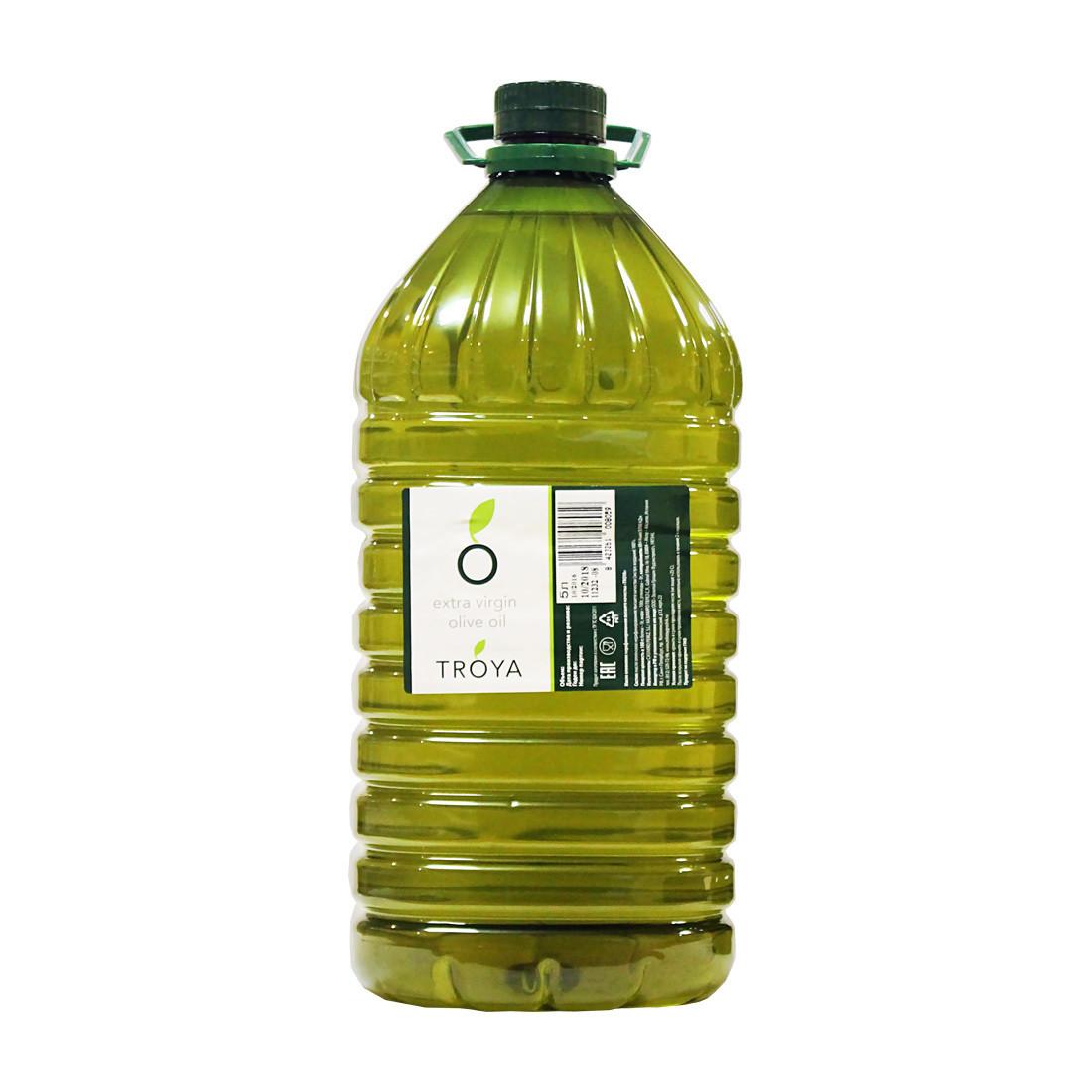 Масло оливковое э/в ТРОЯ пластик 5л