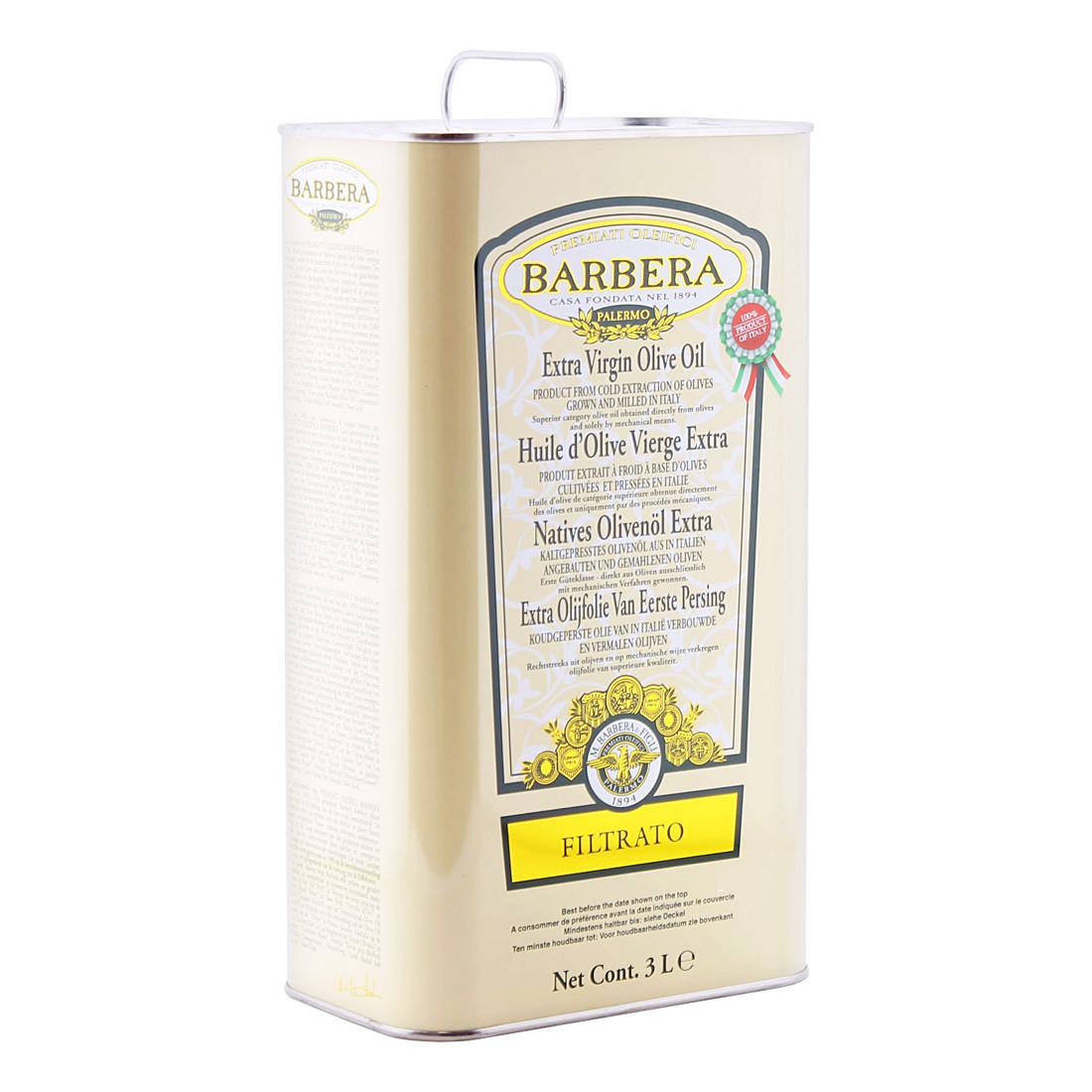 Масло оливковое э/в (Filtrato) БАРБЕРА, жесть 3л