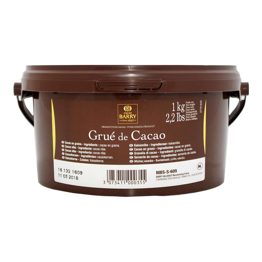 Какао бобы дробленые, обжаренные, БАРРИ КАЛИБО, ведро 1кг