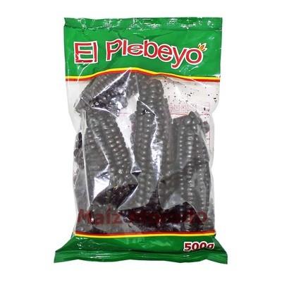 Кукуруза сухая Морадо, черные початки, ЭЛЬ ПЛЕБЭО, пакет 500г