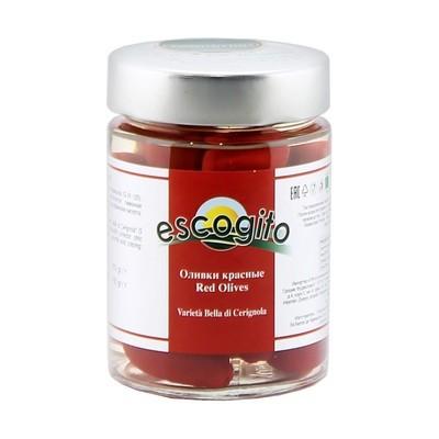 Оливки белла красные с/к (калибр 91-120) ЭСКОДЖИТО, стекло 350г