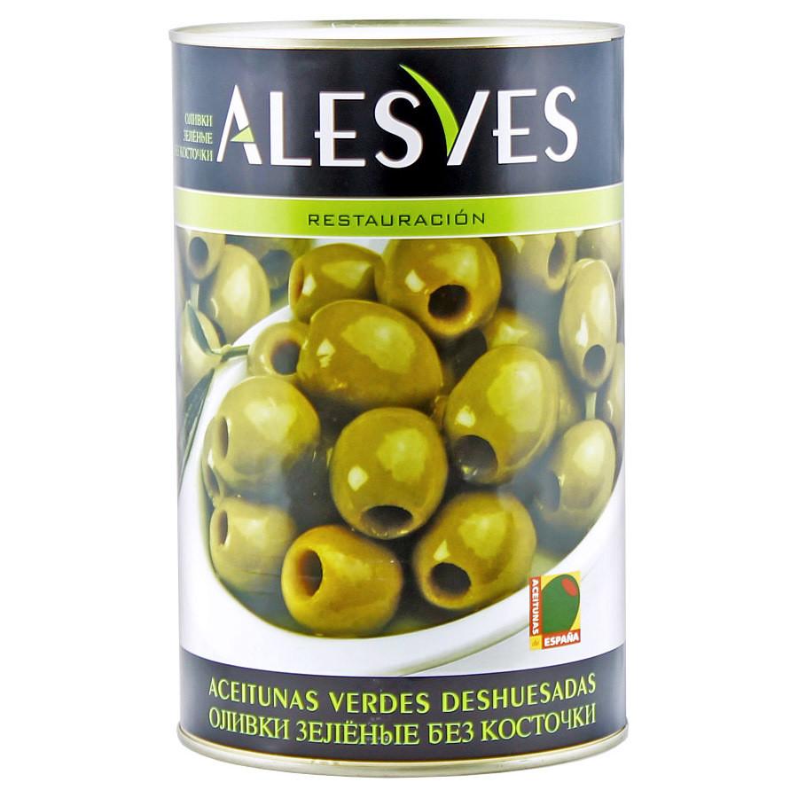 Оливки зеленые б/к (калибр 280-320), АЛЕСВЕС, ж/б 4кг/2кг