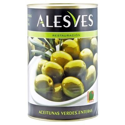 Оливки зеленые с/к (калибр 240-260), АЛЕСВЕС, ж/б 4кг/2кг