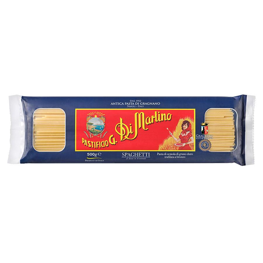 Макароны длинные Спагетти (Spaghetti 1.8мм), ДИ МАРТИНО, 500г х 24 (1 коробка)