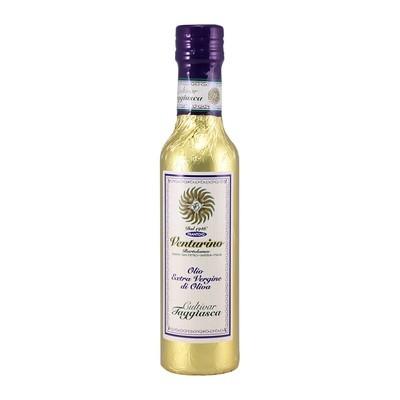 Масло оливковое э/в из оливок Таджиаски, ВЕНТУРИНО, золотая фольга 250мл