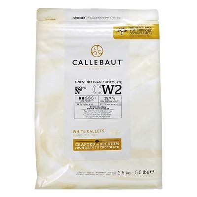 Шоколад в гранулах белый (27,4% какао) CALLEBAUT 2,5кг