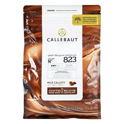 Шоколад в гранулах молочный (33,6% какао) CALLEBAUT 2,5кг