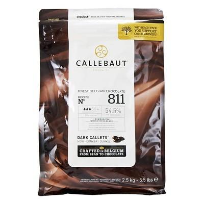 Шоколад в гранулах темный (54,5% какао) CALLEBAUT 2,5кг