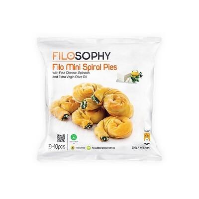 Пирожки Филло спиральные с сыром фета и шпинатом, ФИЛОСОФИ, 500г