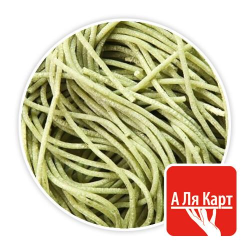 Макароны свежие со шпинатом спагетти (2мм), А ЛЯ КАРТ, 250г