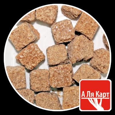 Сахар тростниковый кусковой коричневый А ЛЯ КАРТ, лоток 900г