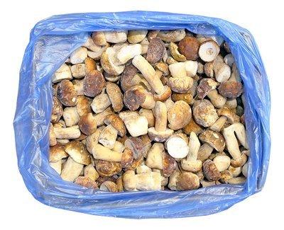 Грибы замороженные белые экстра, 1кг (коробка 9 кг)