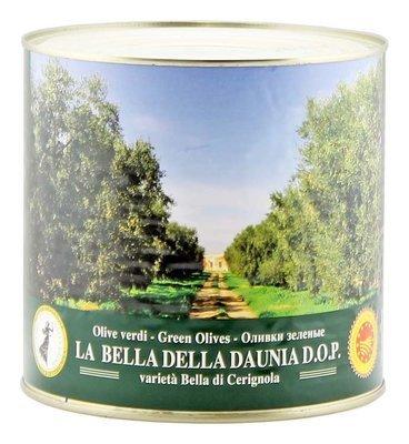 Оливки белла ди чериньола гиганские зеленые, ЭСКОДЖИТО, жесть 2,6кг