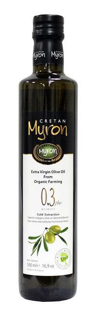 Масло оливковое э/в Био (органик) МИРОН КРИТАН круглая бутылка 500мл