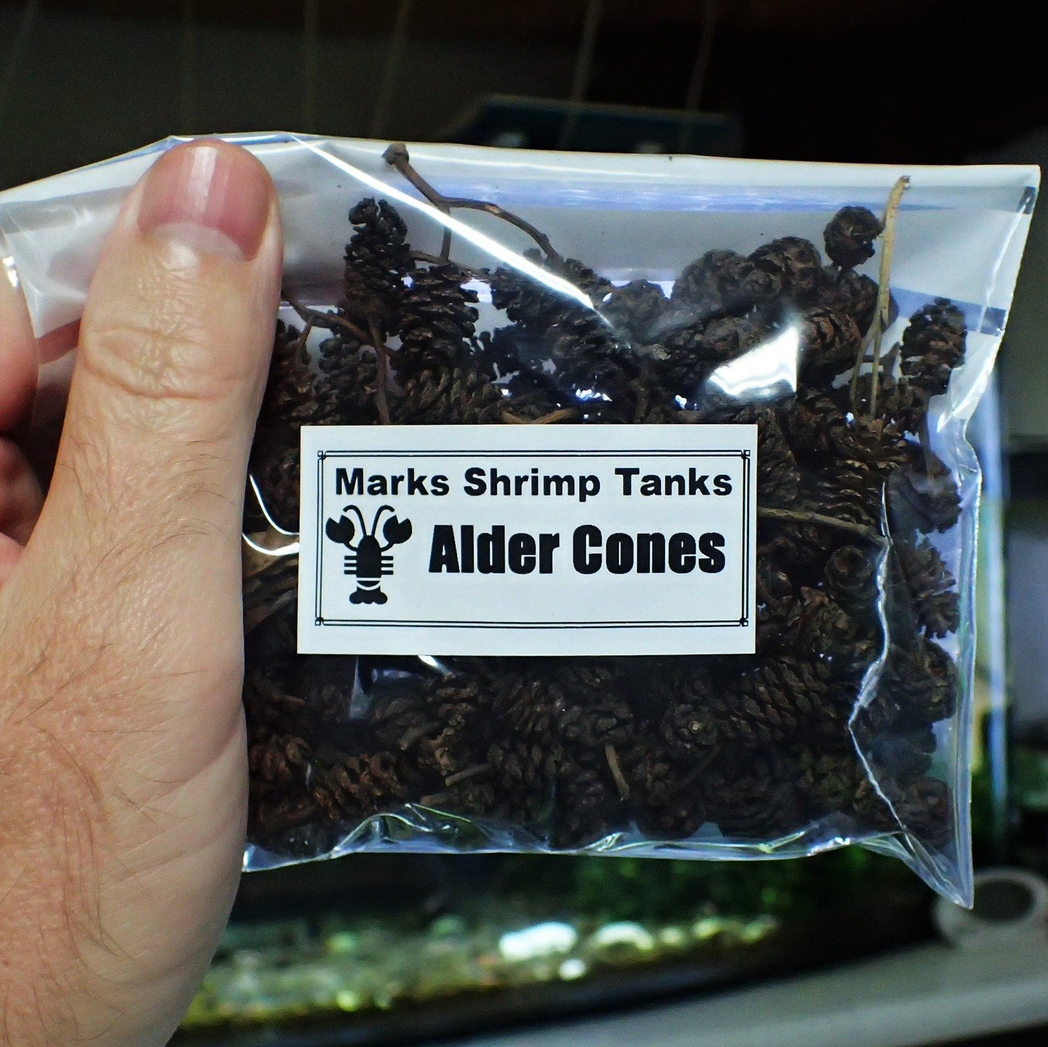 Shrimp Food - Alder Cones  30g