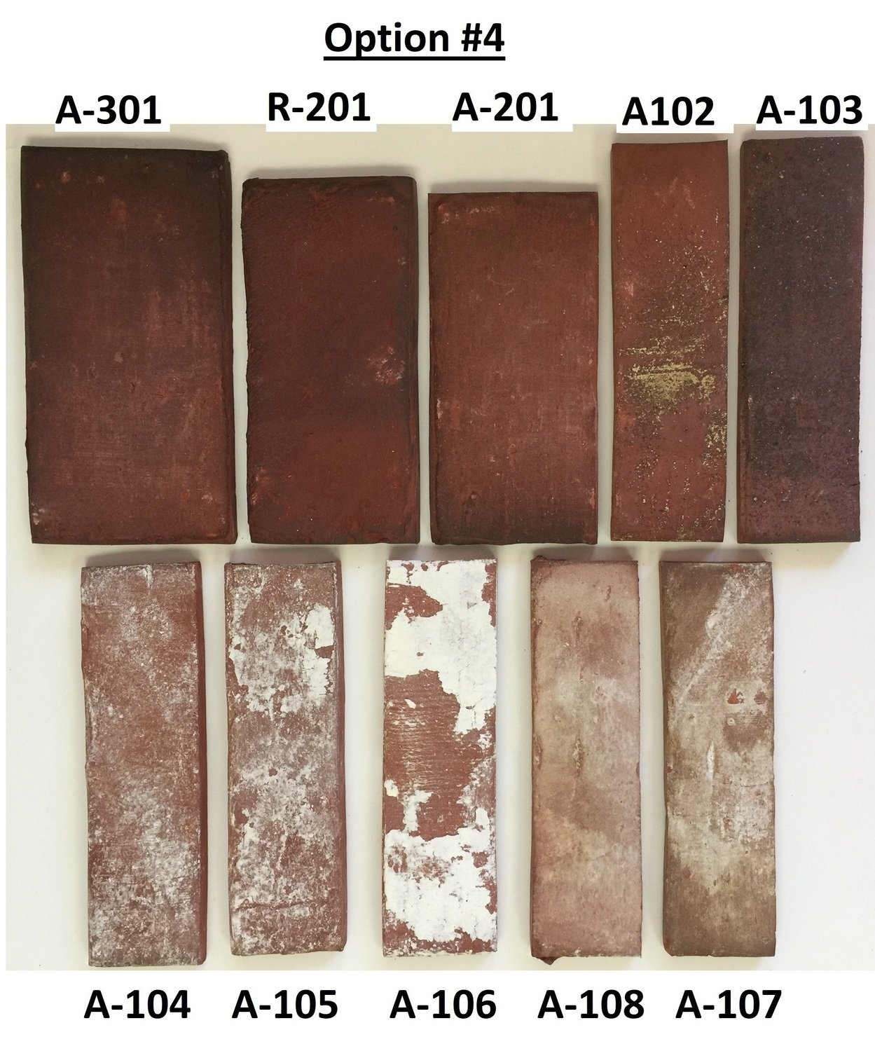 Sample Option #4 - Flooring and Wall sizes - Mix of Antique & Rustic