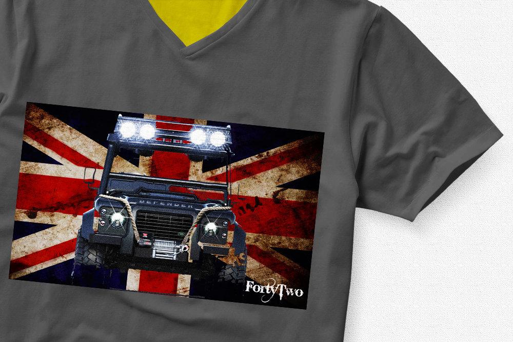 Landrover UK Flag Landrover Flag UK Tshirt